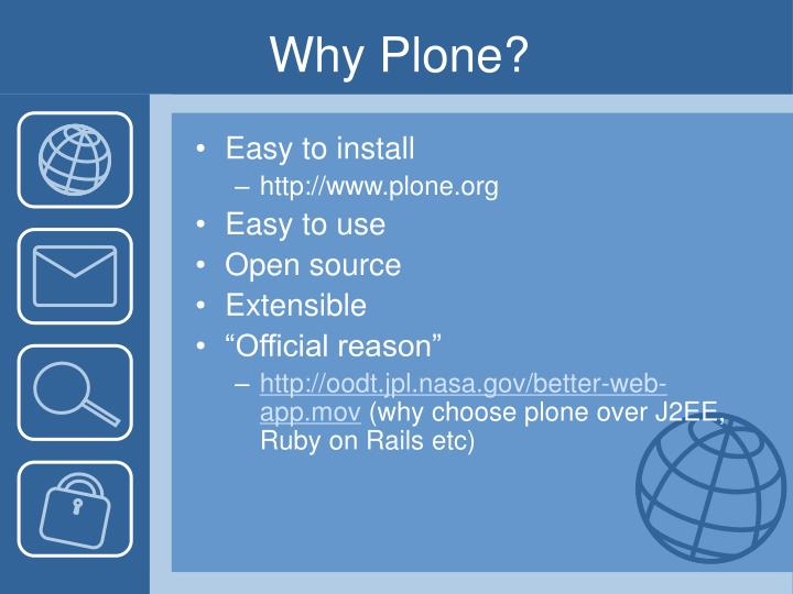 Why Plone?
