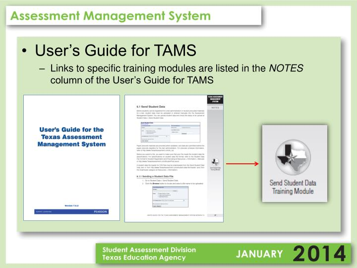 User's Guide for TAMS