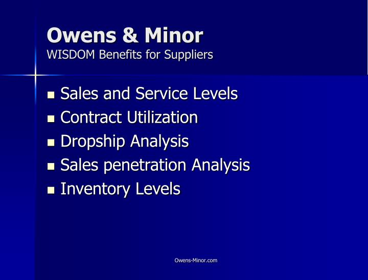 owens and minor case analysis Owens and minor inc case study free pdf ebook download: owens and minor inc case study download or read online ebook owens and minor inc case study.