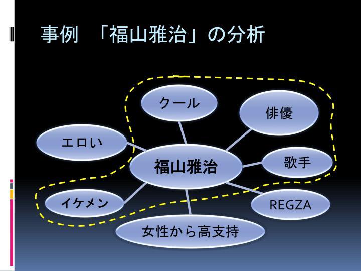 事例 「福山雅治」の分析