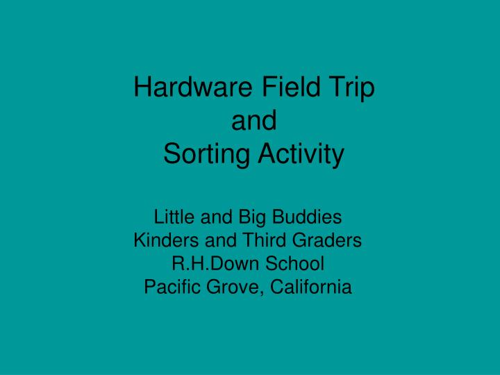 hardware field trip and sorting activity n.