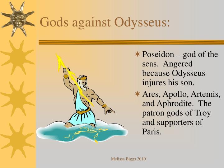 Gods against Odysseus: