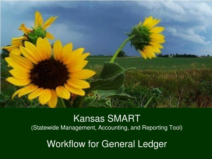 Kansas smart statewide management accounting and reporting tool workflow for general ledger