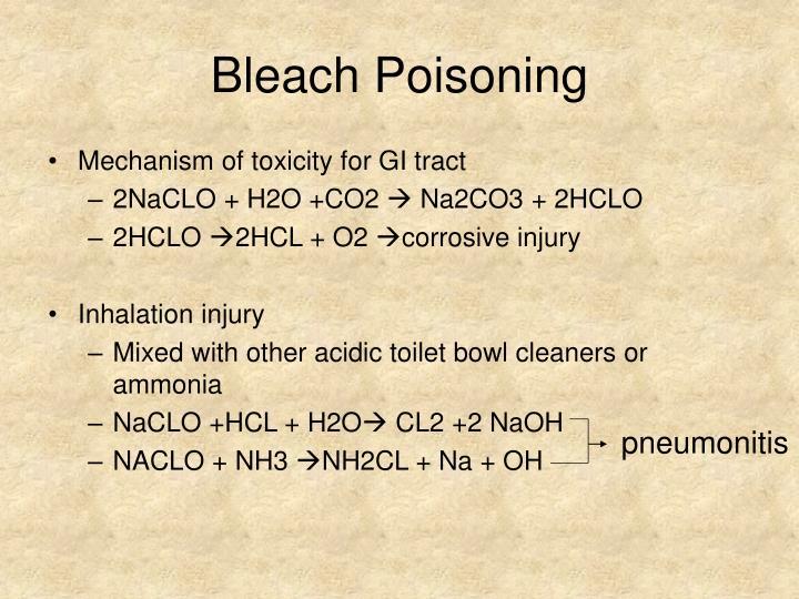 Bleach Poisoning