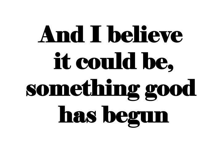 And I believe