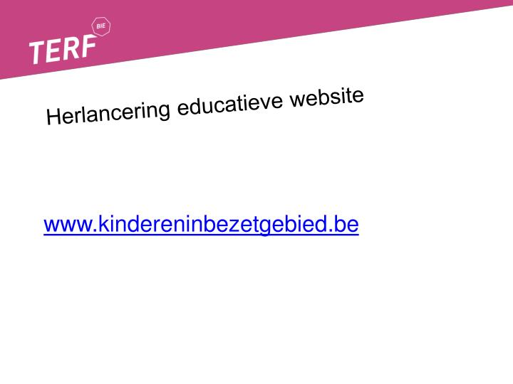 herlancering educatieve website n.
