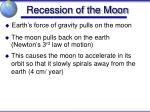 recession of the moon