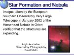 star formation and nebula