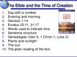 the bible and the time of creation