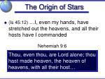 the origin of stars4
