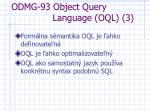 odmg 93 object query language oql 3