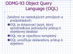odmg 93 object query language oql