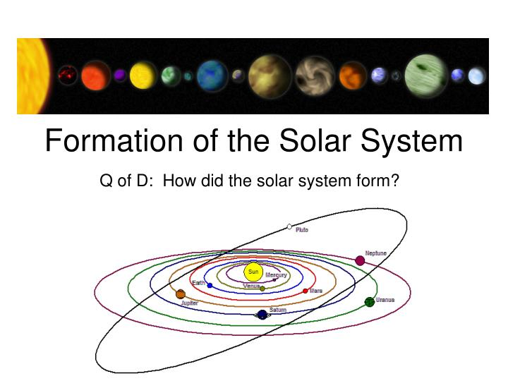 formation of the solar system n.