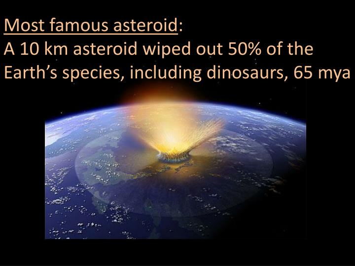 Most famous asteroid