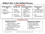 artifact sets in the unified process1