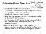 elaboration phase objectives