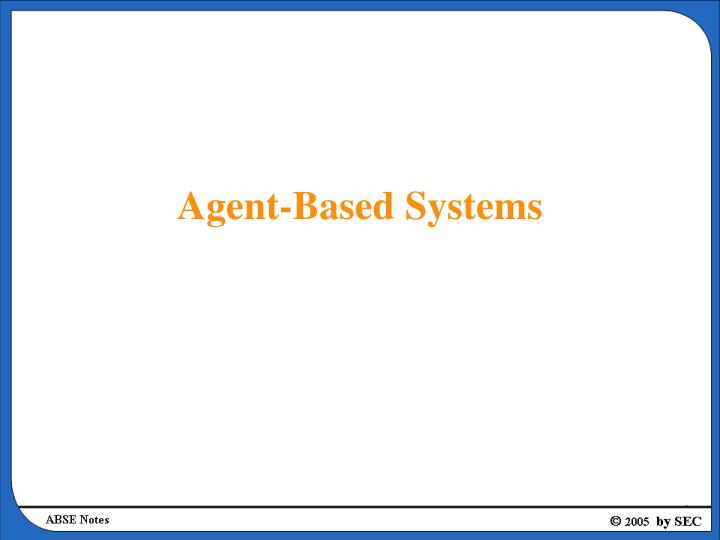 agent based systems n.
