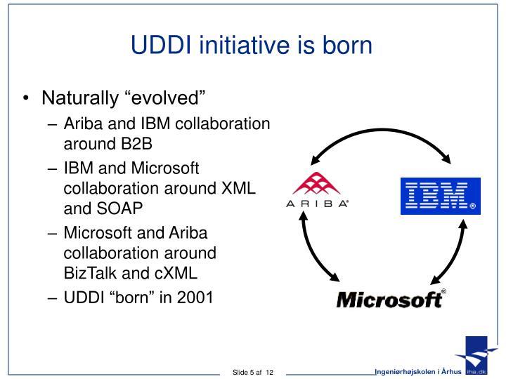 UDDI initiative is born