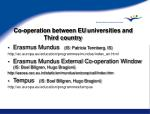 co operation between eu universities and third country