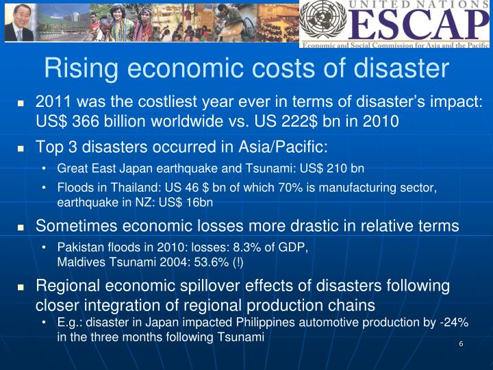 Rising economic costs of disaster