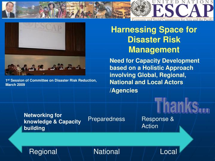 Harnessing Space for Disaster Risk Management