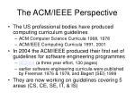 the acm ieee perspective