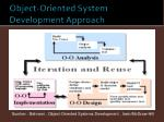 object oriented system development approach