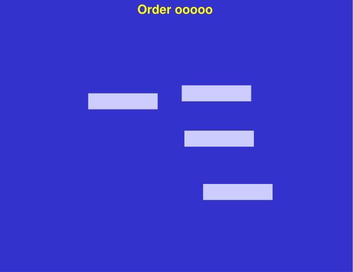 Order ooooo