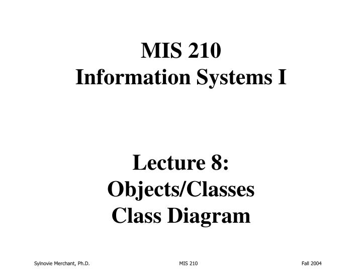 lecture 8 objects classes class diagram n.
