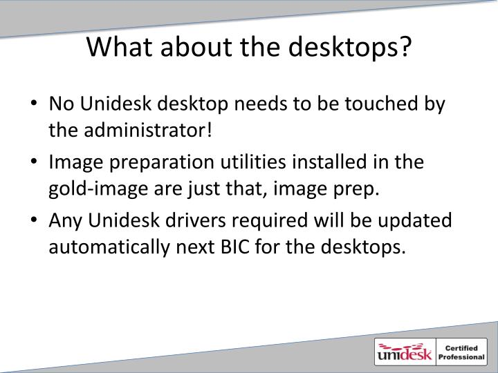 What about the desktops?