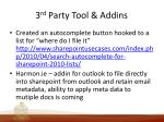 3 rd party tool addins