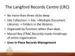 the langford records centre lrc