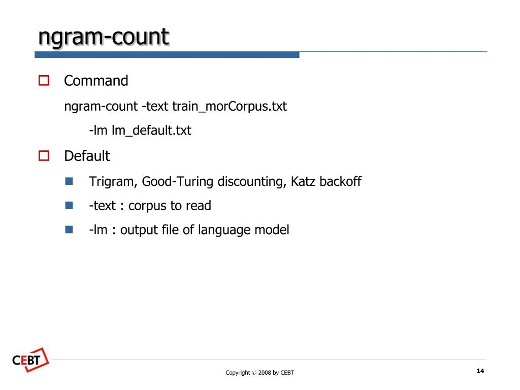 PPT - SRILM - The SRI Language Modeling Toolkit PowerPoint