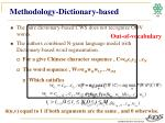 methodology dictionary based