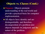 objects vs classes conti