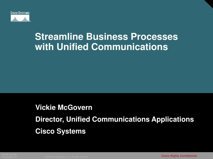 streamline business processes with unified communications n.