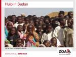 hulp in sudan