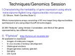 techniques genomics session