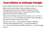 from inflation to anthropic principle