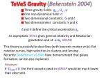 teves gravity bekenstein 2004
