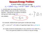 vacuum energy problem