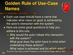 golden rule of use case names