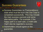 success guarantees
