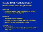 standard uml profile for dodaf