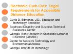electronic curb cuts legal requirements for accessible distance education