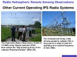 other current operating ips radio systems