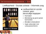 leefbaarheid sociale cohesie informele zorg1