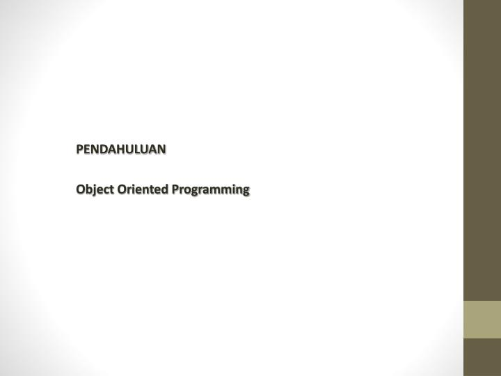 pendahuluan object oriented programming n.