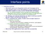 interface points