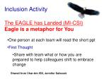 inclusion activity the eagle has landed mi csi eagle is a metaphor for you